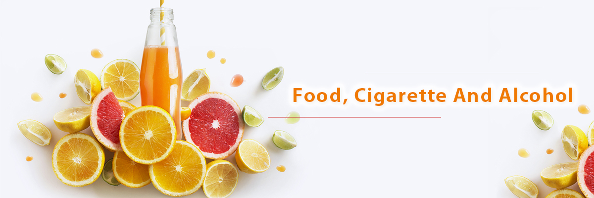 Food, Cigarette and Alcohol